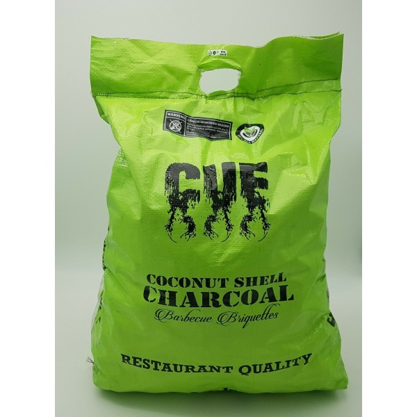 BBQ COCONUT SHELL CHARCOAL - 12KG BAGS * Least CO2 Emission in the World