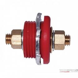 CONNECTOR THRU PANEL, RED