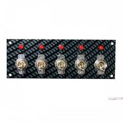 SWITCH PANEL,FIBER DSGN,GRY/BLK