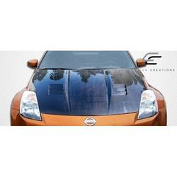 2003-2006 Nissan 350Z Z33 Carbon Creations JGTC Hood - 1 Piece