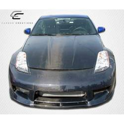 2003-2006 Nissan 350Z Z33 Carbon Creations OEM Look Hood - 1 Piece