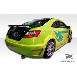 2006-2011 Honda Civic 2DR Duraflex Circuit Wide Body Rear Fender Flares - 2 Piece (Overstock)