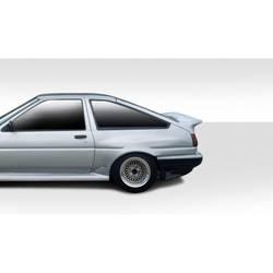 1984-1987 Toyota Corolla 2DR / HB Duraflex D-1 Sport Rear Fender Flares - 2 Piece