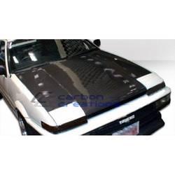 1984-1987 Toyota Corolla Carbon Creations OEM Look Hood (Overstock)