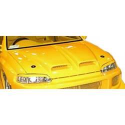 1992-1995 Honda Civic 2DR HB Duraflex Spyder Hood - 1 Piece