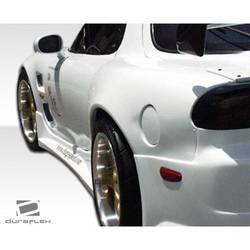 1993-1997 Mazda RX-7 Duraflex D-1 Sport Rear Fender Flares - 2 Piece