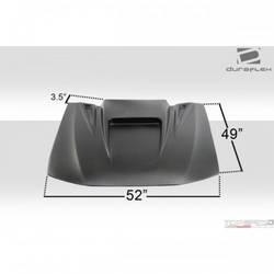 Universal Duraflex Spyder 3 Hood Scoop - 1 Piece