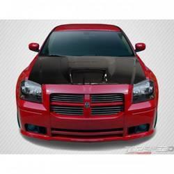 2005-2007 Dodge Magnum Carbon Creations SRT Look Hood - 1 Piece