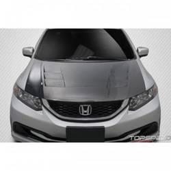 2012-2015 Honda Civic 4DR Carbon Creations TS-1 Hood - 1 Piece